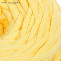 Пряжа трикотажная широкая 50м/170гр, ширина нити 7-9 мм (200 св.-желтый)  МИКС