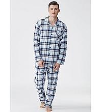 Пижама мужская на пуговицах, фланелевая, брюки. Китай