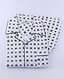 Пижама мужская на пуговицах, фланелевая, брюки. Китай, фото 2
