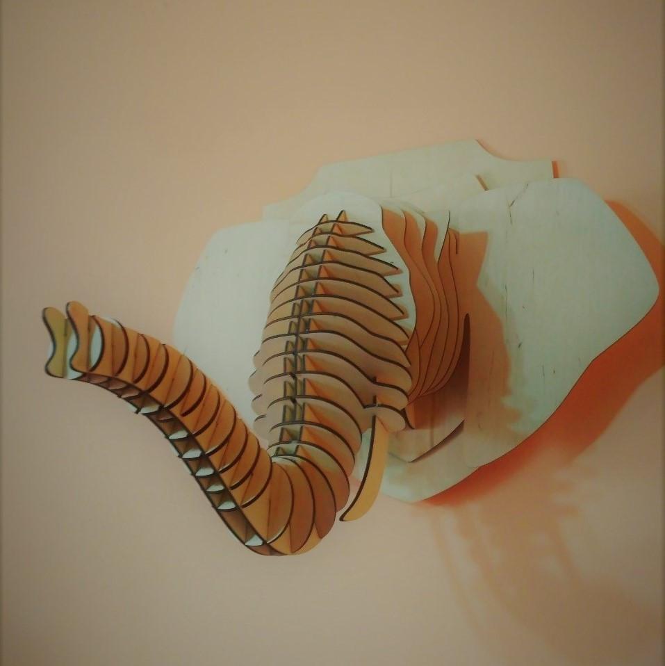 Декоративная голова Слона (без покраски)