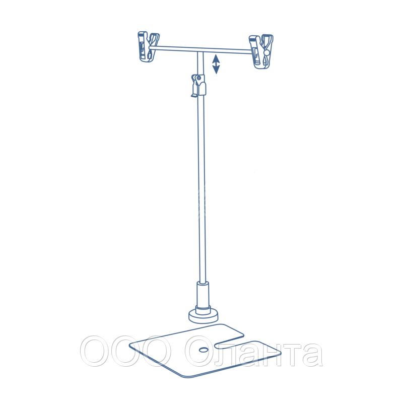 Стойка настольная Т-образная DEPOST с квадратным основанием телескопическая (h=340-570 мм)