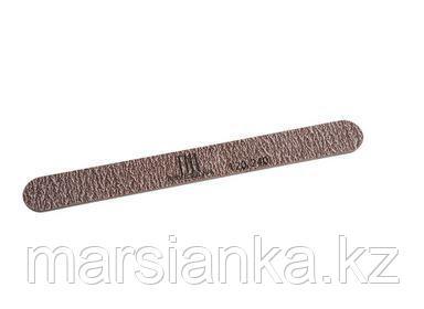Пилка для ногтей узкая 120/240 TNL, коричневая в уп. пластик основа