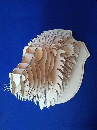 Декоративная голова Льва (без покраски)