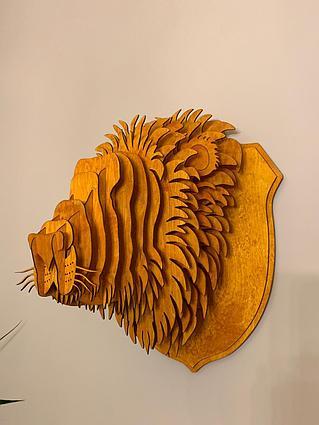 Декоративная голова Льва