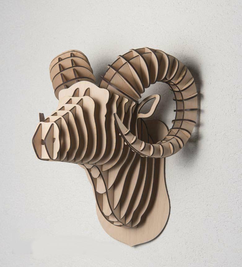 Декоративная голова Барана (без покраски)