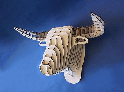 Декоративная голова Быка (без покраски)