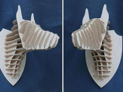 Декоративная голова Добермана (без покраски)