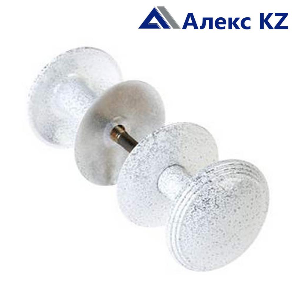 Ручка дверная-кнопка РК2-1 алюминий пол.серебро