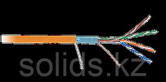 Кабель FTP 4 пары Кат.5e одножильный медный внутренний LSZH оранжевый 305м