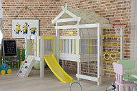Детская площадка Савушка BABY-7, скаладром с канатом, сетка лазалка, горка, баскетбольное кольцо.