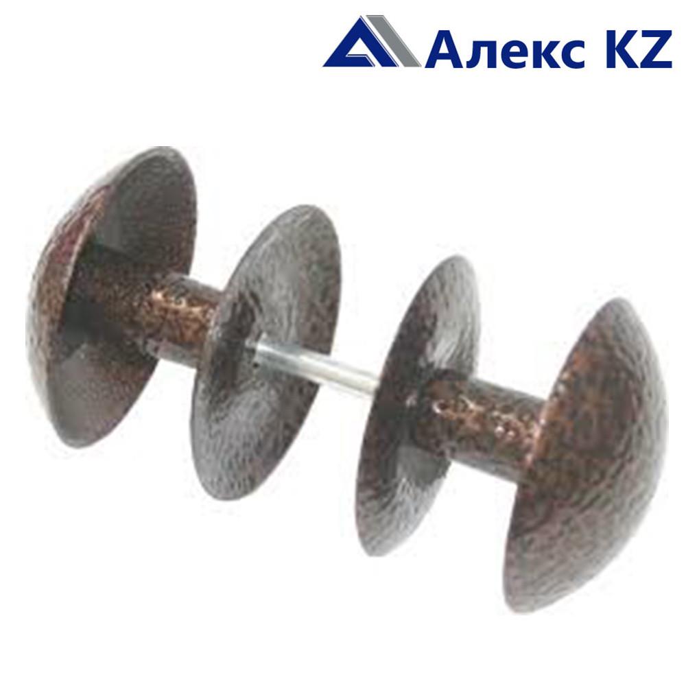 Ручка дверная-кнопка РК2-1 алюминий пол.медь