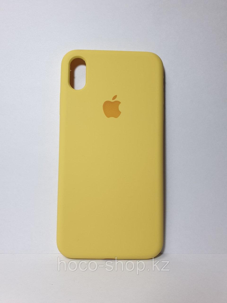 Защитный чехол для iPhone Xs Max Soft Touch силиконовый, желтый