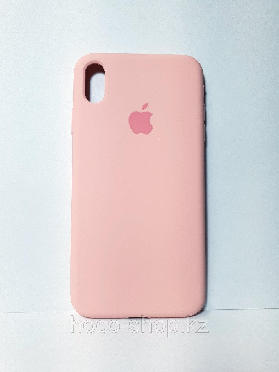 Защитный чехол для iPhone Xs Max Soft Touch силиконовый, розовый