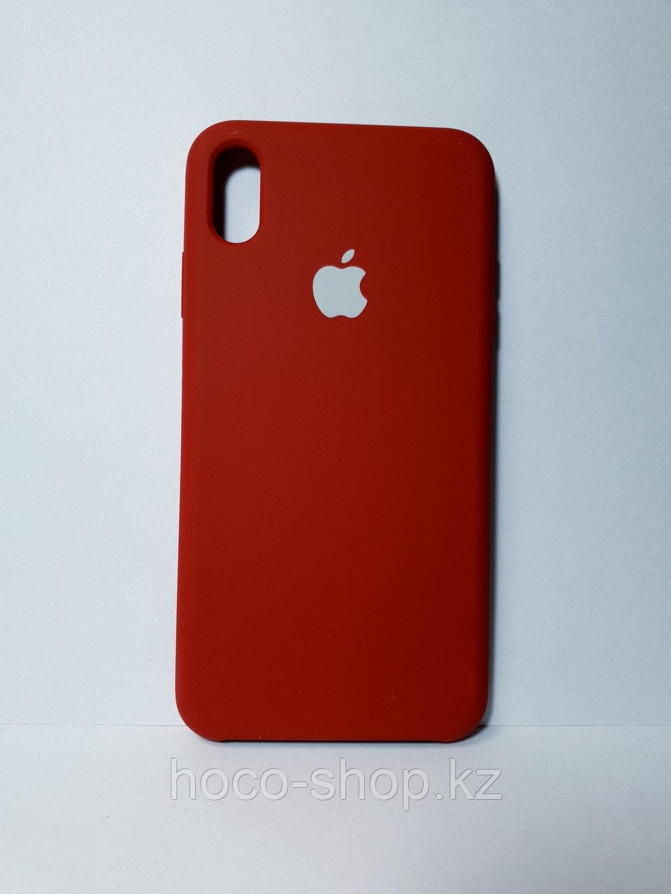 Защитный чехол для iPhone Xs Max Soft Touch силиконовый, темно красный