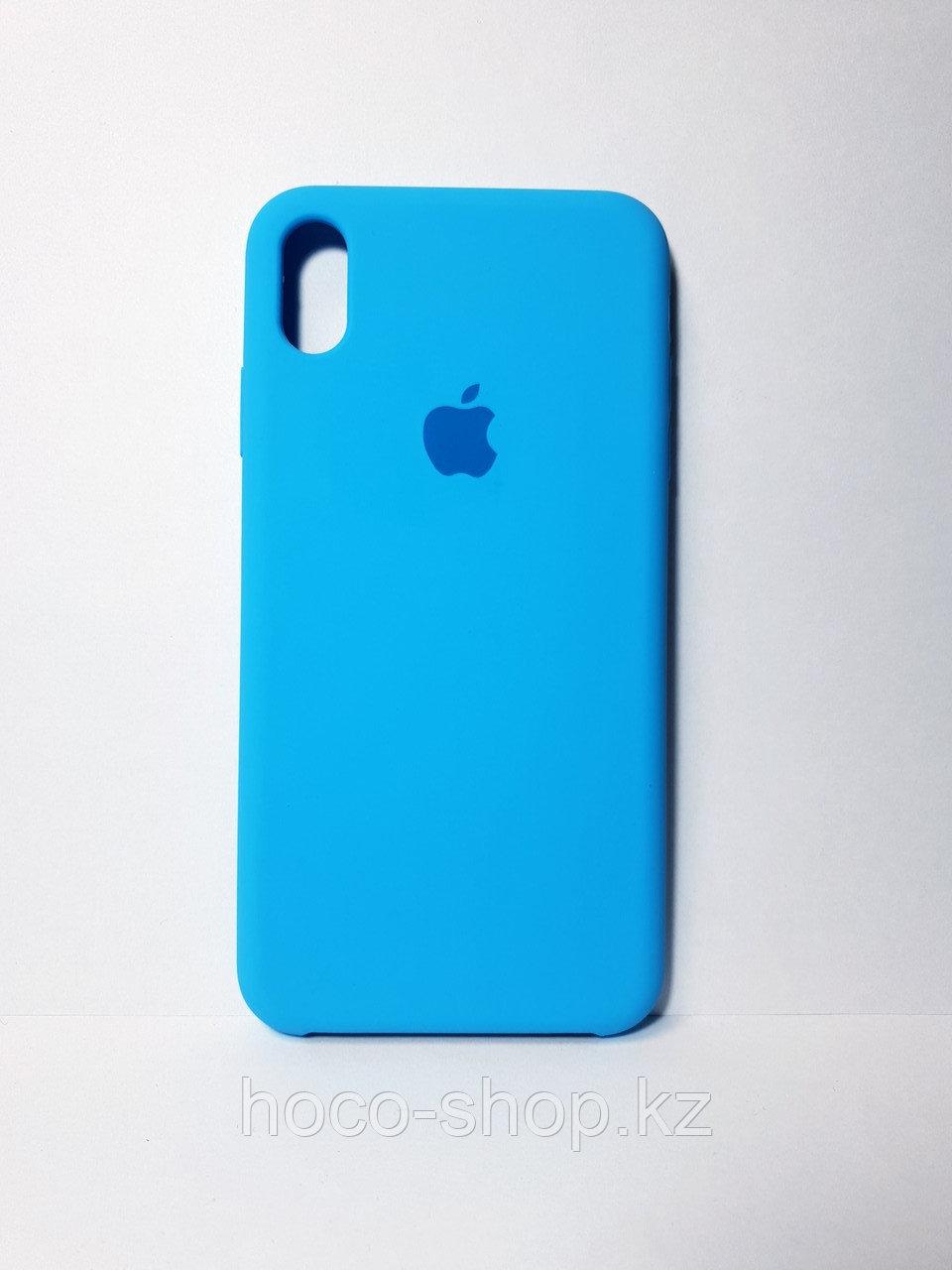 Защитный чехол для iPhone Xs Max Soft Touch силиконовый, голубой