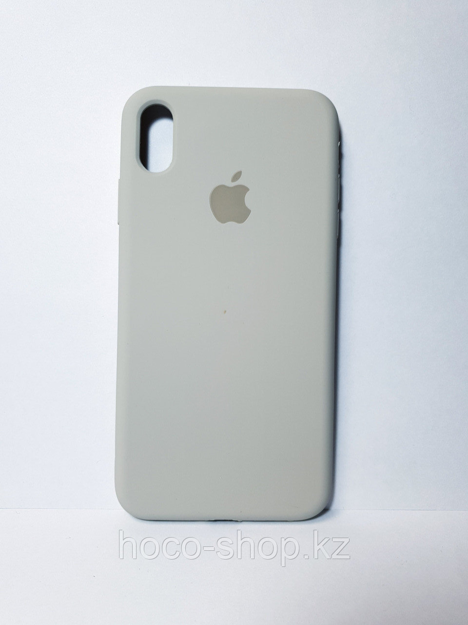 Защитный чехол для iPhone Xs Max Soft Touch силиконовый, серый