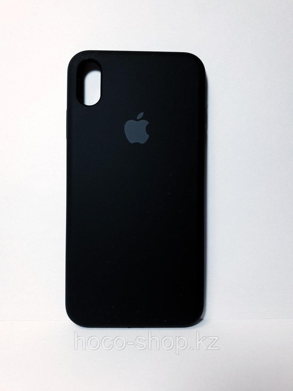 Защитный чехол для iPhone Xs Max Soft Touch силиконовый, черный