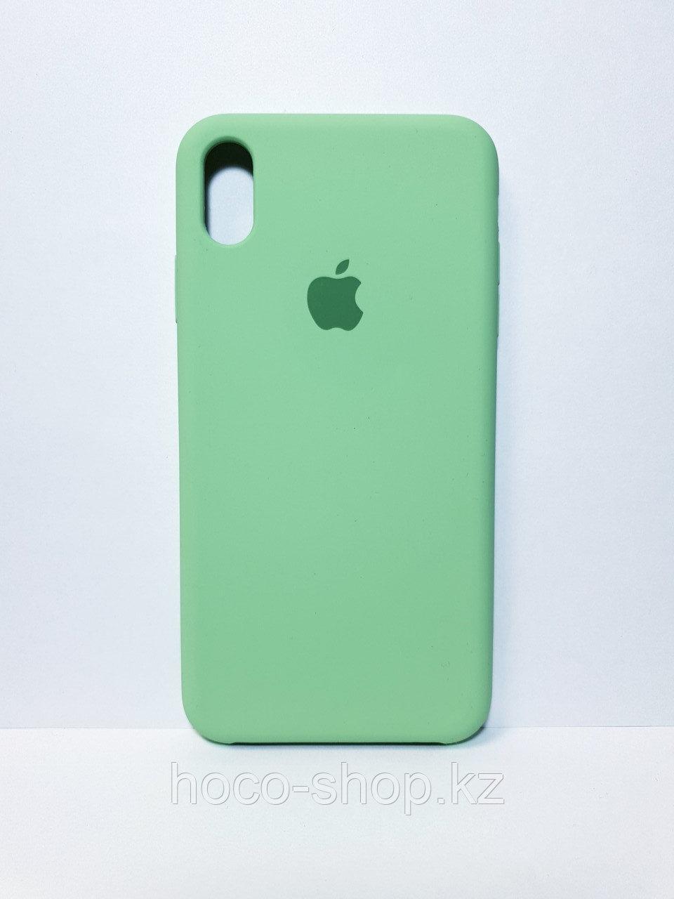 Защитный чехол для iPhone Xs Max Soft Touch силиконовый, зеленый