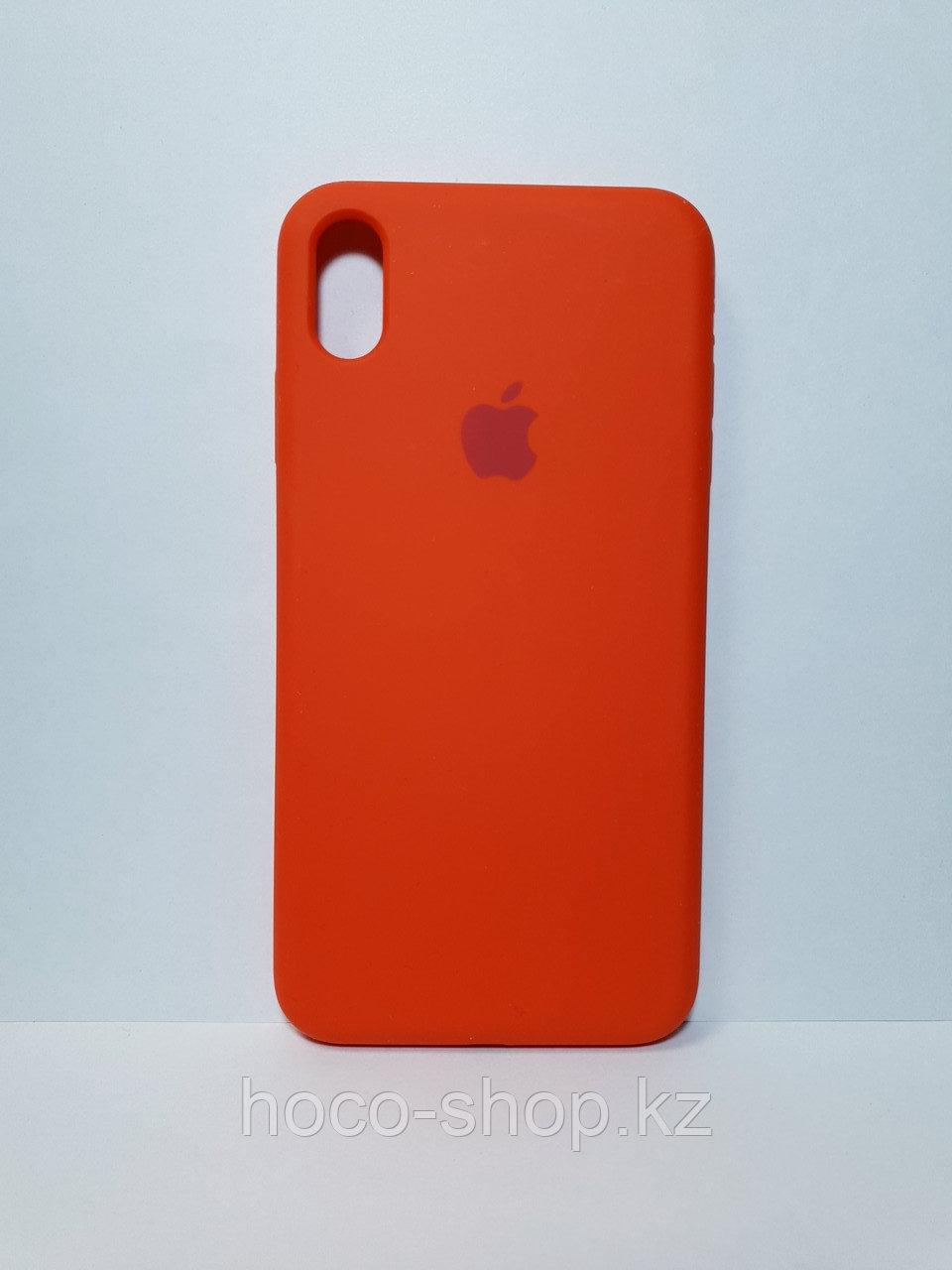 Защитный чехол для iPhone Xs Max Soft Touch силиконовый, красный