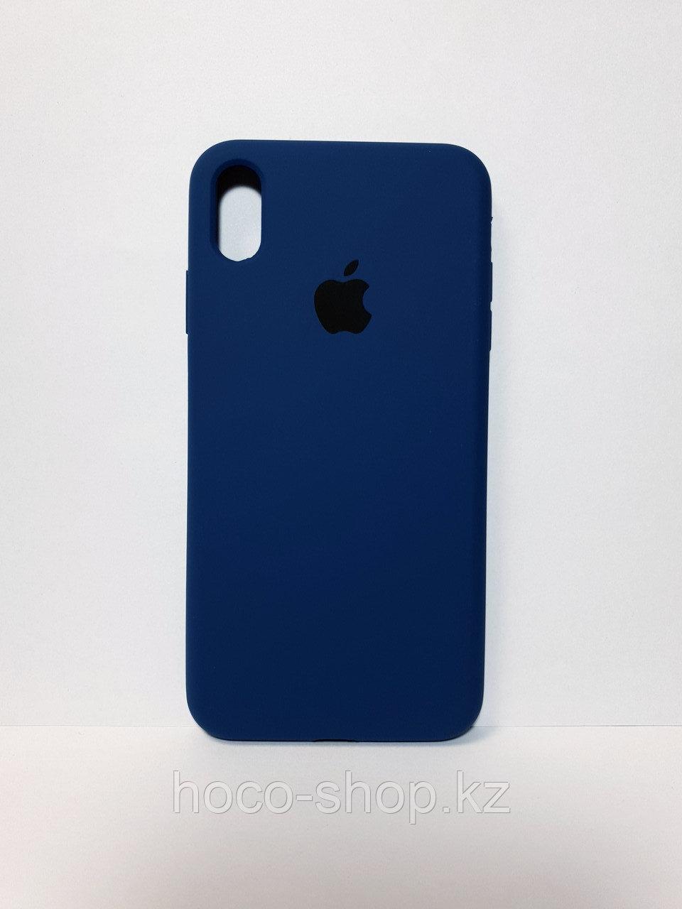 Защитный чехол для iPhone Xs Max Soft Touch силиконовый, темно синий