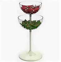 Чаша пластиковая для распродаж двухуровневая (d-407/460 мм/v-17/24 л) UNIBOWL-TOWER арт. 121024