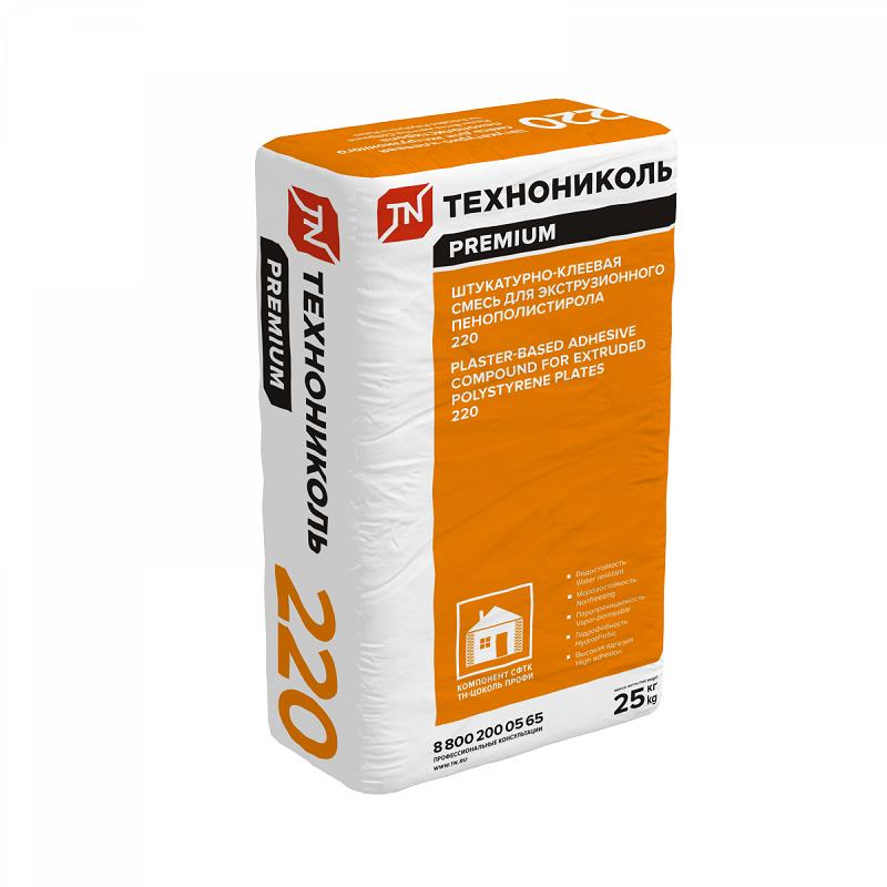 Штукатурно-клеевая смесь для плит из XPS Технониколь 220