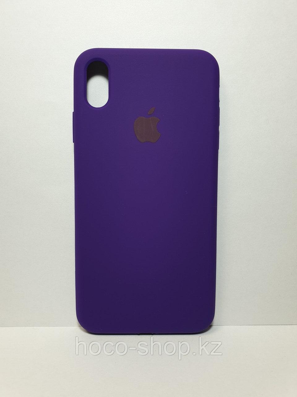 Защитный чехол для iPhone Xs Max Soft Touch силиконовый, фиолетовый