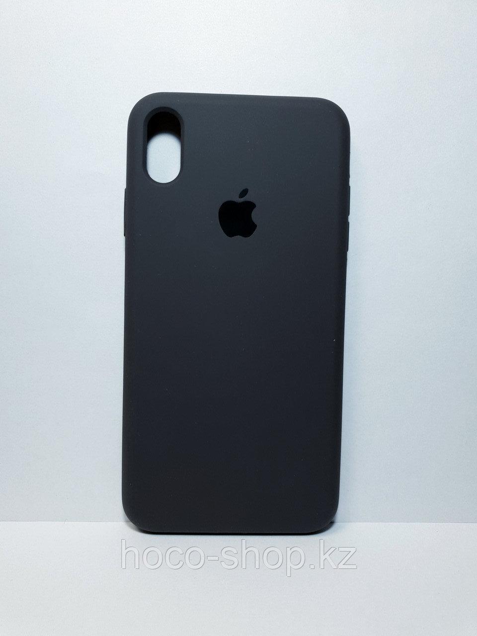 Защитный чехол для iPhone Xs Max Soft Touch силиконовый, темно серый