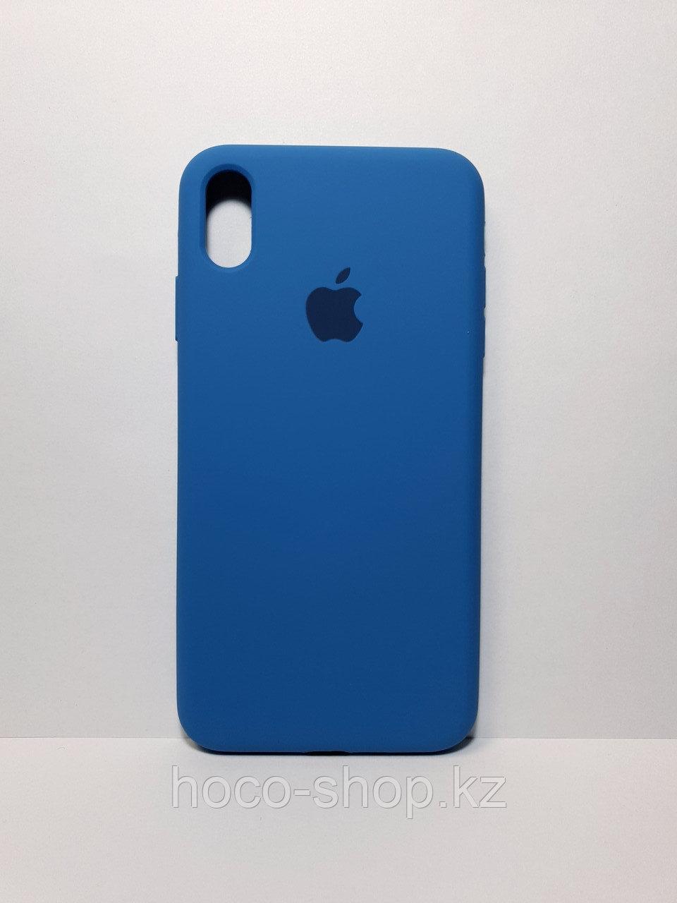 Защитный чехол для iPhone Xs Max Soft Touch силиконовый, синий