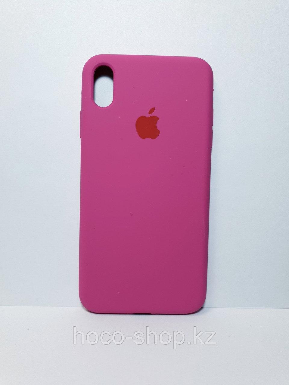 Защитный чехол для iPhone Xs Max Soft Touch силиконовый, темно розовый