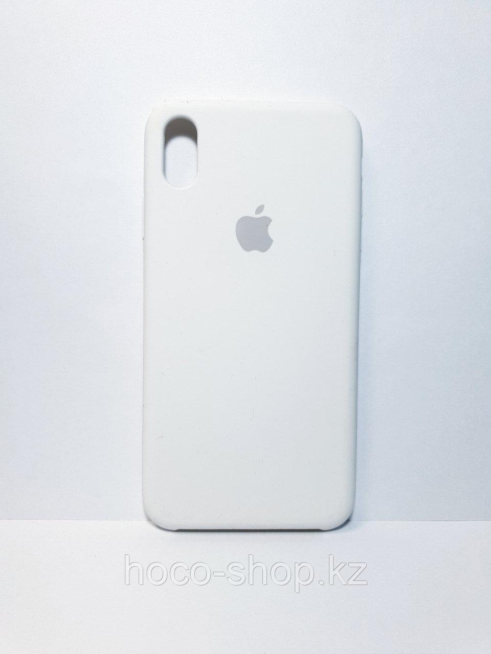 Защитный чехол для iPhone Xs Max Soft Touch силиконовый, белый