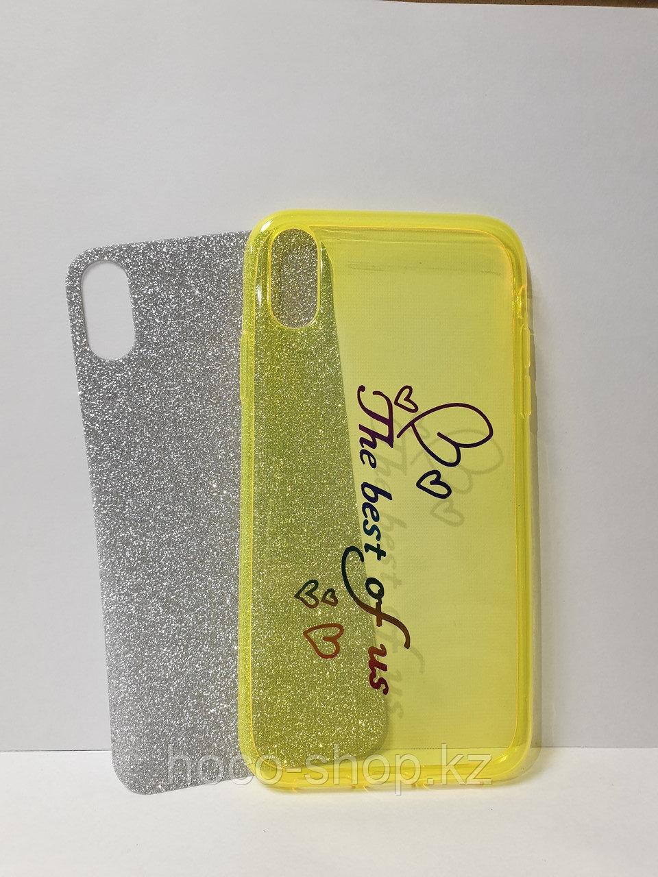 Чехол гель с блестками iPhone Xs Max - фото 2