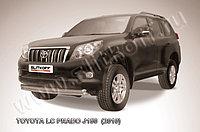 Защита переднего бампера d57+d57 двойная радиусная Toyota Land Cruiser Prado 150 2009-13