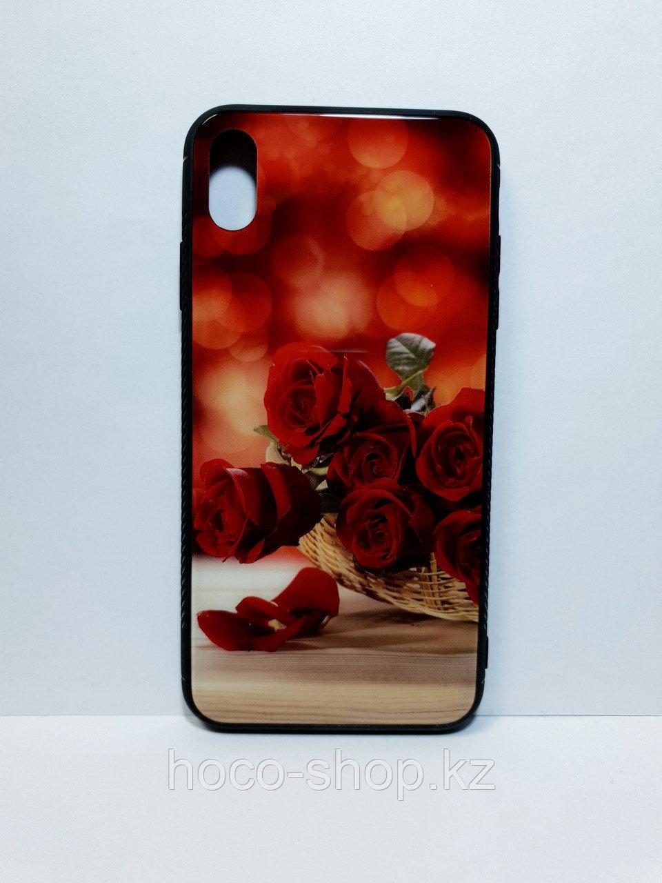 Чехол гель со стеклом iPhone Xs Max