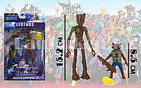 Фигурка героя шарнирная Реактивный Енот и Грут (Rocket Raccoon and Groot)