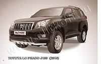Защита переднего бампера d57+d57 двойная с профильной защитой картера Toyota Land Cruiser Prado 150 2009-13