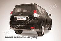 Защита заднего бампера d76+d42 двойная Toyota Land Cruiser Prado 150 2009-13