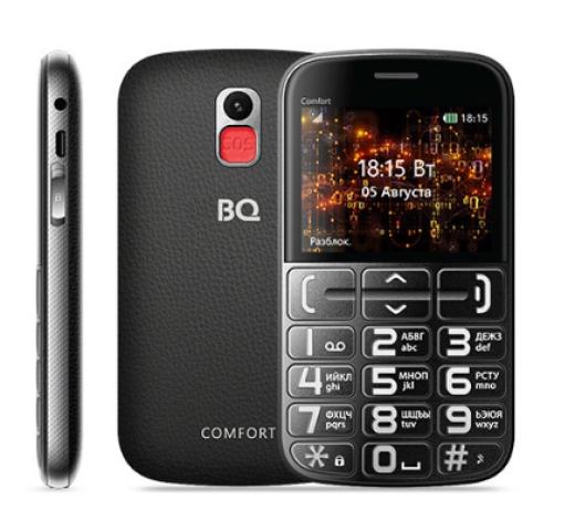 Мобильный телефон BQM-2441 Comfort Черный+Серебристый