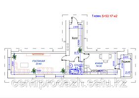 1 комнатная квартира в ЖК Arai Apartments 53.17 м²