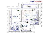 2 комнатная квартира в ЖК Arai Apartments 56.15 м², фото 1