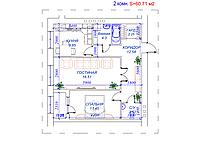 2 комнатная квартира в ЖК Arai Apartments 60.71 м², фото 1