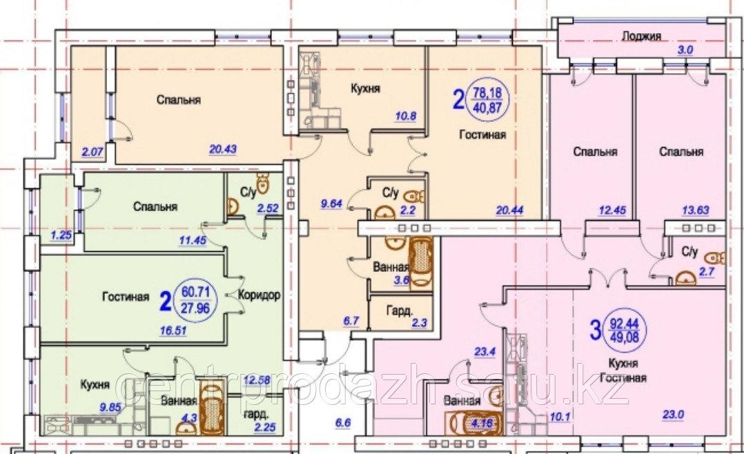 2 комнатная квартира в ЖК Arai Apartments 78.18 м²