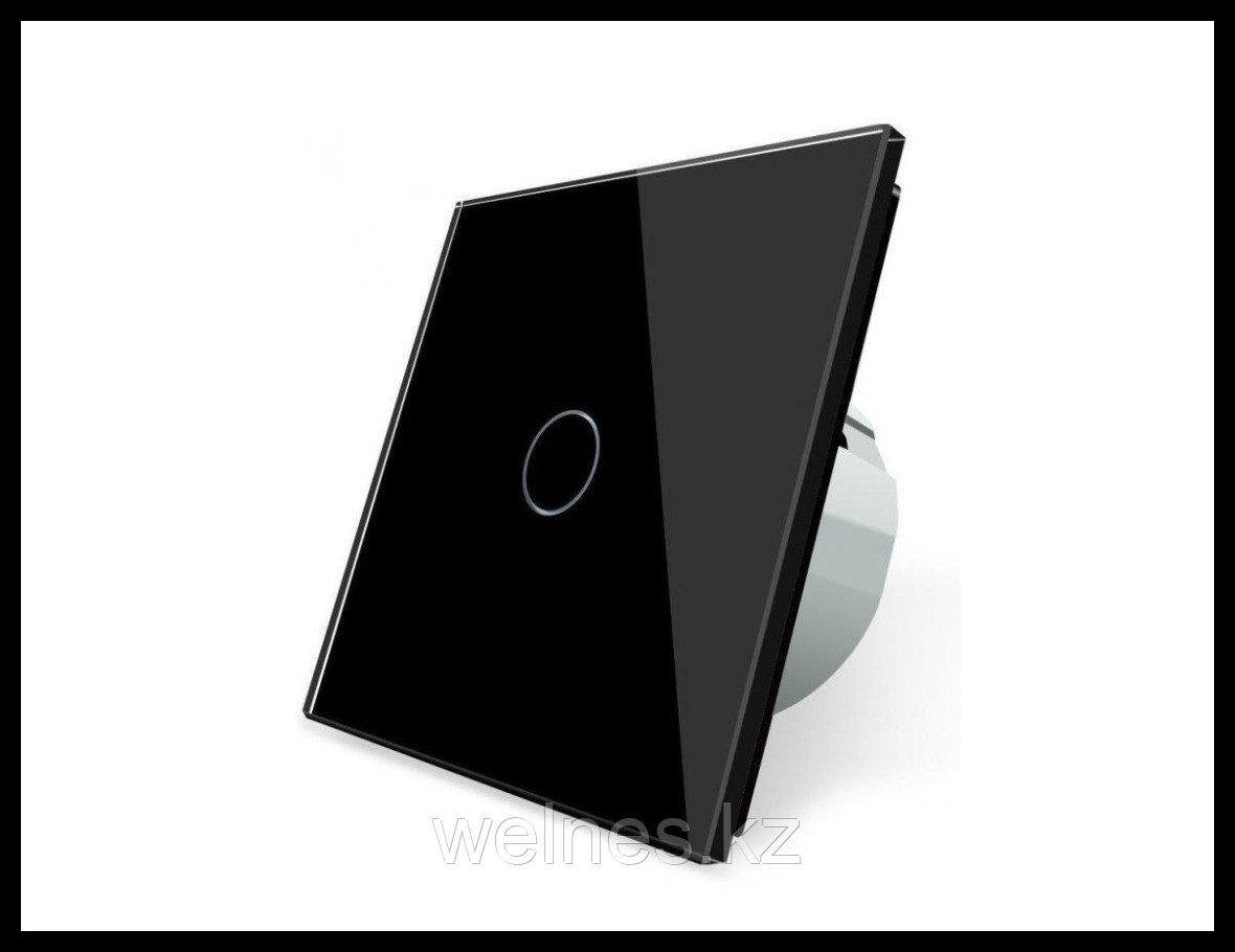 Сенсорный выключатель Touch Me Black (однолинейный)