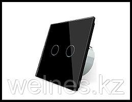 Сенсорный выключатель Touch Me Black (двухлинейный)
