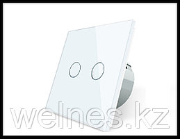 Сенсорный выключатель Touch Me White (двухлинейный)