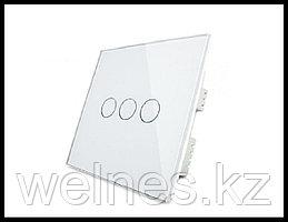 Сенсорный выключатель Touch Me White (трехлинейный)