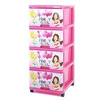 Детский пластиковый комод Dunya Party Girl Розовый, фото 1