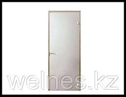 Дверь для инфракрасной сауны Harvia STG, 7x19 (короб - сосна, стекло - сатин, ручка - защелка)