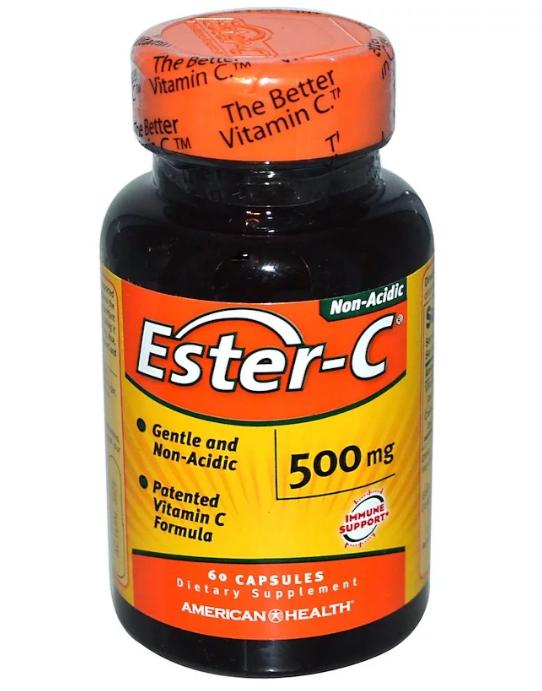 American Health, Ester-C, 500 мг, 60 капсул
