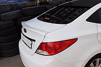 Спойлер на крышку багажника  Hyundai Accent/Хюндай Акцент/Солярис 2010-